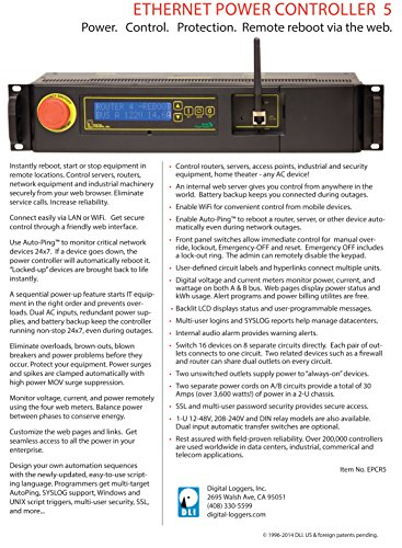 Echo Compatible Power Switching - 2 Inputs, 8 Circuits, 16 Switched Outlets, 2 Unswitched, Surge Protection, Web & Script Control Amp/Volt Meters, WiFi, HTTPS, SSH, Lua, NOW ALEXA / ECHO COMPATIBLE by DIGITAL LOGGERS (Image #3)