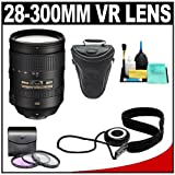 Nikon 28-300mm f/3.5-5.6 G VR AF-S ED Zoom-Nikkor Lens + Holster Case + 3 UV/FLD/CPL Filters Kit for D4, D7000, D5200, D5100, D3200, D3100, D800, D600 Digital SLR Cameras, Best Gadgets