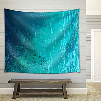 Incredible Visual, Clear Water Ocean Fabric Wall, With Expert Quality