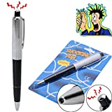 ATian Shocking Pen Prank Toys Writeable Electric Shock Pen Gag Toys Shocking Hand Utility Classic Gadget Gag Trick Joke Toys Novelty Yonger Funny Gift with Battery for Student Office etc