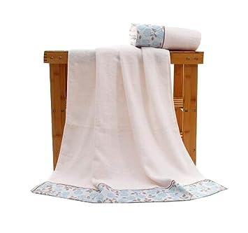 Algodón Toallas de baño para el hotel de lujo Spa Home [Blue Rose]: Amazon.es: Hogar