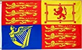 British (UK) Royal Standard Flag - 3 foot by 5 foot Polyester (NEW)