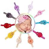 Ca 10 Pack Baby's Headbands Girl's Headband Baby Elastic Hair Hoops