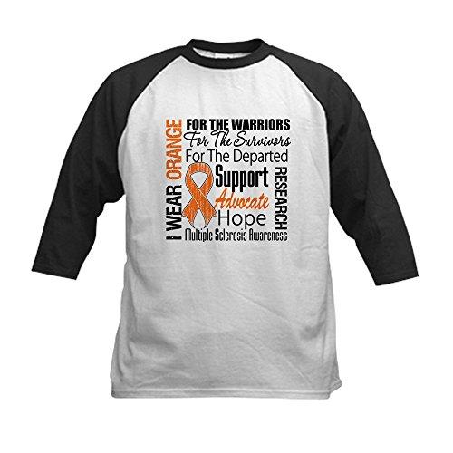 CafePress - Multiple Sclerosis Orange Ribbon Baseball Jersey