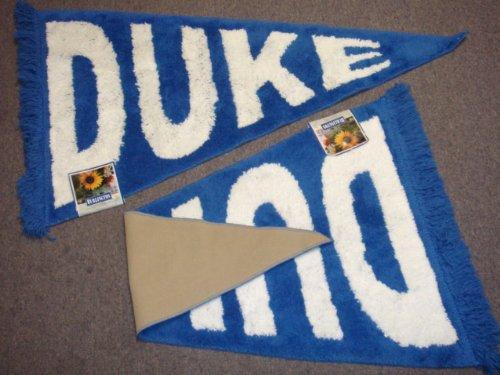 Blue & White Duke University Blue Devils Plush Pennant Area Rug / Floor Mat ()