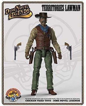"""old west action figure Territories Lawman Dime Novel Legends 1:18 scale 4/"""""""