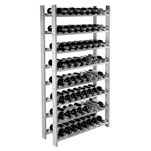 120 Bottle Wine Rack Bottle Holder Storage Kitchen Display 8 Tier Solid Construction Natural Wood New #546 by koonlert14