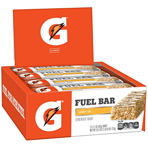 Gatorade Prime Fuel Bar, Honey Oat, 45g of carbs, 5g of protein per bar (12 Count)