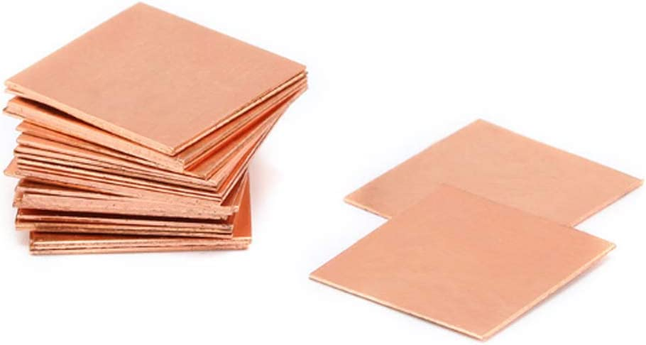 Zerobegin Pure Copper Sheet 99.9/%,T2 Copper DIY Metal Art,Wide Range of Applications,for Industry Supply,1mm*100mm*100mm