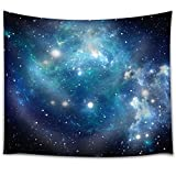 Sawors Starry Night Tapestry Wall Hanging,Nebula Gas Cloud of Dust Spiral Expanse Planet Galaxy System Milky Way Modern Home Decor, Bedroom Living Room Dorm Decor,Navy