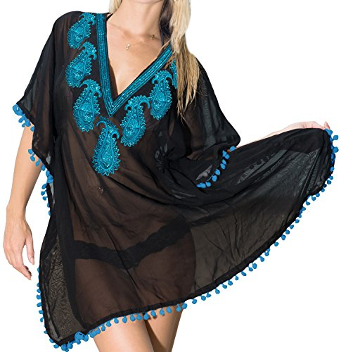 Travel Beach Swimsuit Dress 7 Ways To Sarong Tunic Bikini Coverup Black Swimwear