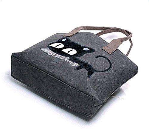 de LAAT negro Bolso Lona mujer mochila para EqZqrO