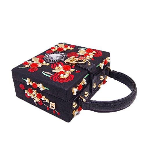 frizione borsa Shimmer Nuova borsa da della la di per ricamata borsa Black festa borsa sera donne nozze zwFpwdqv