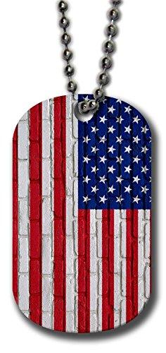 Aluminum-Dog-Tag-Flag-of-United-States-American-USA-Many-Design-Options