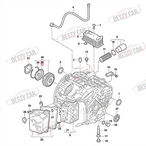 Bestycar Genuine DSG Gearbox Clutch Pack Front Oil Seal Cover for VW VOLKSWAGEN Audi 0DE301205A