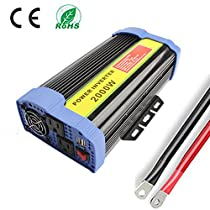 2000W Power Inverter DC 24V to 110V AC Car Converter with Dual USB Adapter + 2 AC Outlets Power for car, Laptop, Tablet, Smartphone and Other Household Devices (2000W)