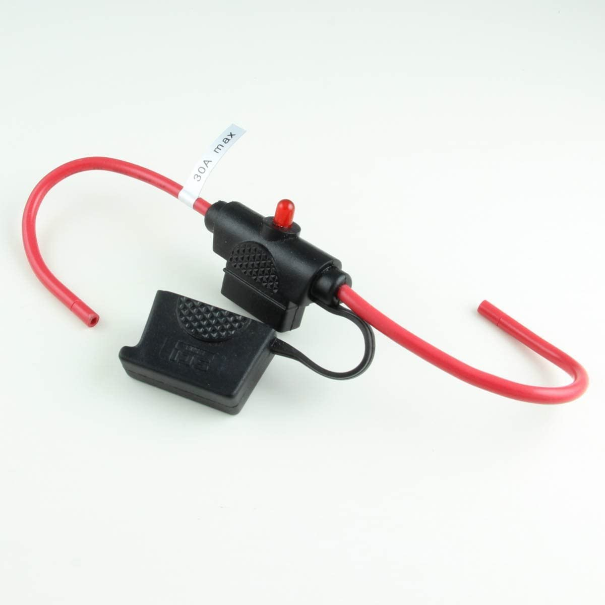 Wire Leads LED ATC//ATO Inline Fuse Holder with Cap 12 Ga 1 per pack