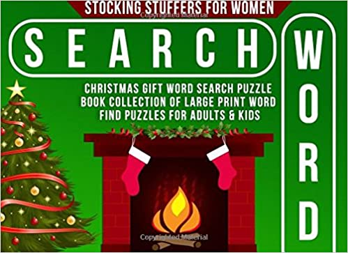 Stocking stuffers for women christmas gift word search puzzle book stocking stuffers for women christmas gift word search puzzle book collection of large print word find puzzles for adults kids womens stocking stuffer negle Image collections