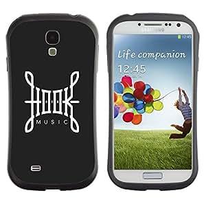 "Pulsar iFace Series Tpu silicona Carcasa Funda Case para SAMSUNG Galaxy S4 IV / i9500 / i9515 / i9505G / SGH-i337 , Hook Música Caligrafía Gris Blanco"""