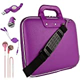 Roxie Shoppes Purple Sallie Travel Bag w/Micro USB Cable & Charger, 2-in-1 3.5mm Headpone Jack Adaper & More for Acer Iconia Tab/Switch One/Aspire Switch / 10' Tablet Laptop PC
