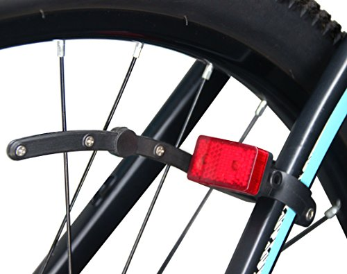 LykusSource Dynamo-Powered Bike Tail Light with Capacitor, Battery-Free, No Need to Recharge, Auto On/Off, Keep Flashing at Stop, Upgraded Installation (2nd (Dynamo Bike Lights)