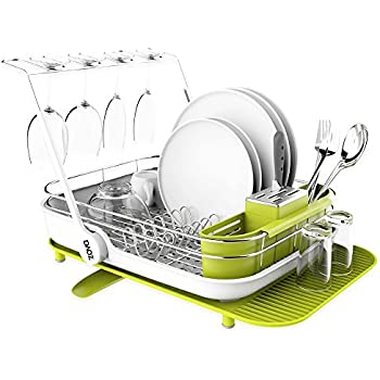 d01d3107fd70 SIGA zova Premium Stainless Steel Multi-Functional Dish Drying Rack with  Cutlery Holder and Wine Glass Rack, Dish Drainer Utensil Organizer for  Kitchen– ...
