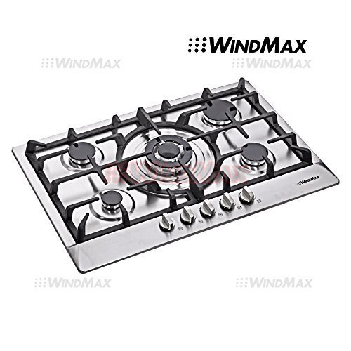 WindMax® Euro Style 30 in Stainless Steel 5 Burner Built-In