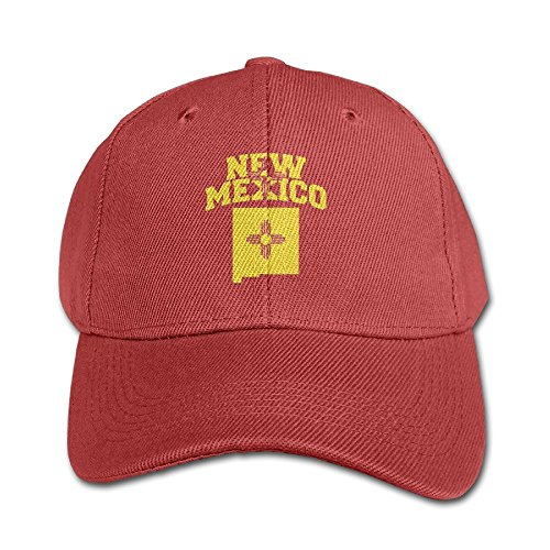 Elephant AN New Mexico Flag Pure Color Baseball Cap Cotton Adjustable Kid Boys Girls Hat -