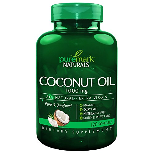 Puremark Coconut Oil Softgels, 1000 mg, 120 Count