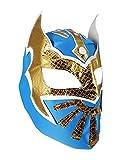 SIN CARA Youth Lucha Libre Wrestling Mask - KIDS Costume Wear - Blue