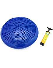 SAHE PRODUCTS Inflatable Twist Massage Balance Board - Wobble Cushion, Balance Workout Disc - Twist Massage, Fitness and Exercise - Pump Included, Blue
