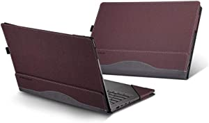 "HP Spectre x360 13t Touch (Released in 2019) 13.3"" 2 in 1 Laptop Case Cover,PU Leather Folio Stand Protective Hard Shell Case Compatible with HP Spectre x360 13-AWxxx 13 Inch Series,Red"