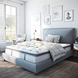 Classic Brands Mercer Pillow-Top Cool Gel Foam and Innerspring Hybrid 12-Inch Mattress, Queen