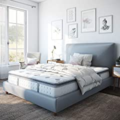 Classic Brands Mercer Pillow-Top Cool Gel Memory Foam and Innerspring 12-Inch Mattress combines the superior support of a wrapped coil innerspring system with the conforming response of gel-infused memory foam for a more comfortable, deeper, ...