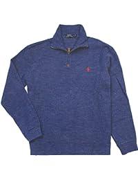 Polo Ralph Lauren Mens Half Zip French Rib Cotton Sweater