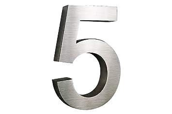 Número de casa de acero inoxidable H20 cm x T3cm cepillado ...