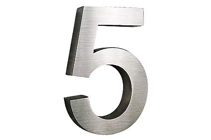 Número de casa de acero inoxidable de Nr, 5 H25 cm x T3cm ...