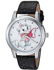 Disney Womens Marie Quartz Metal Casual Watch, Color:Black (Model: WDS000349)
