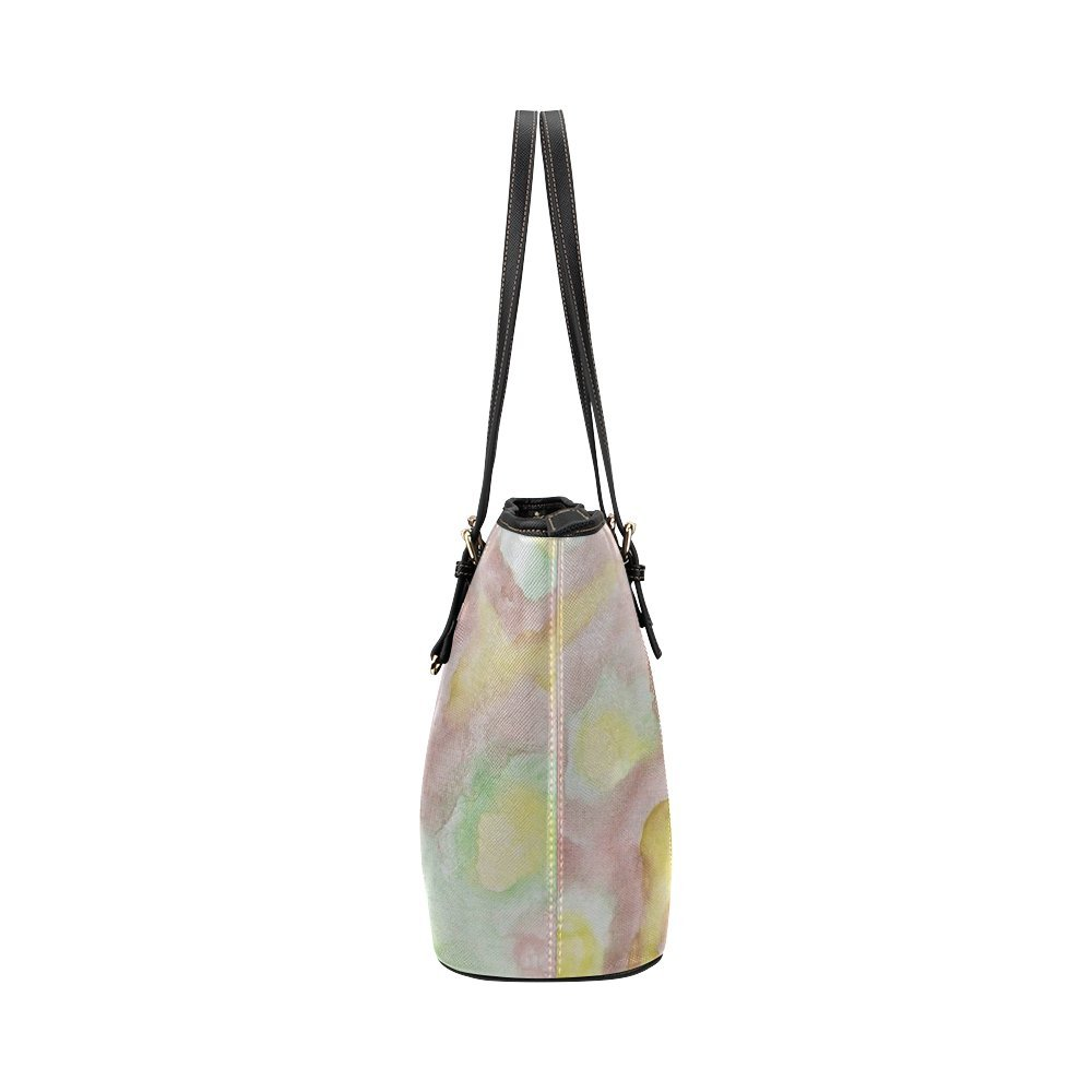 InterestPrint N/¨/¦nuphars Leather Tote Bag Large