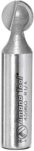 Amana Tool 45962 Carbide Tipped Ball End 5//16 Radius x 9//16 Dia x 1//2 Shank