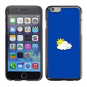 LECELL--Funda protectora / Cubierta / Piel For Apple Iphone 6 Plus 5.5 -- Sun divertido y nubes --