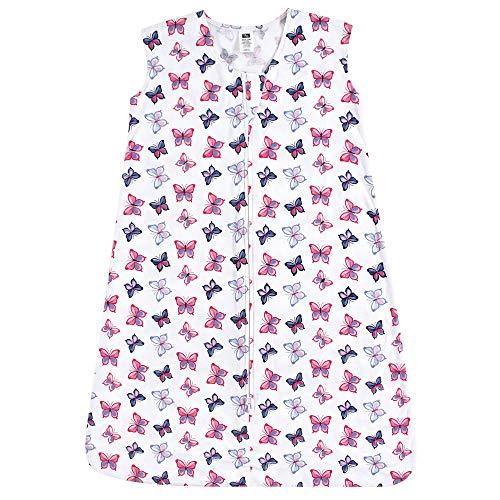Hudson Baby Wearable Safe Soft Jersey Cotton Sleeping Bag, Butterflies 0-6 ()