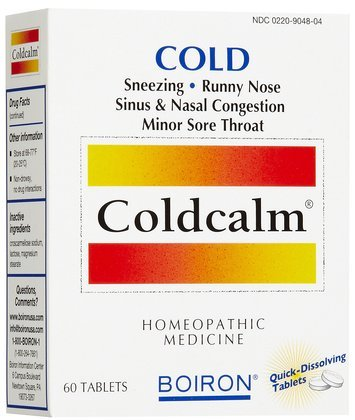 (Coldcalm 60 Tablets Homeopathic Medicine (Pack of 3))