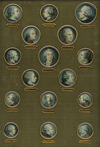 Oil Painting 'French- Set Of Sixteen Miniatures Of French Eighteenth-Century Notables, Nineteenth Century' 30 x 44 inch / 76 x 112 cm , on High Definition HD canvas prints, Gym, Laundry Room, decor (18th Century Tokens)