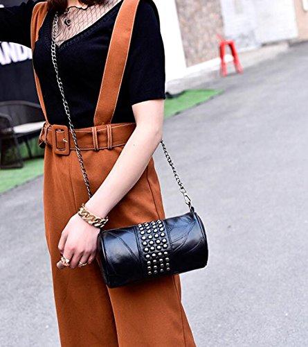 La b pequeña match Meaeo bolsa bolsa de hombro almohada a toda moda handbag simple cadena Ow1pq01Wxd