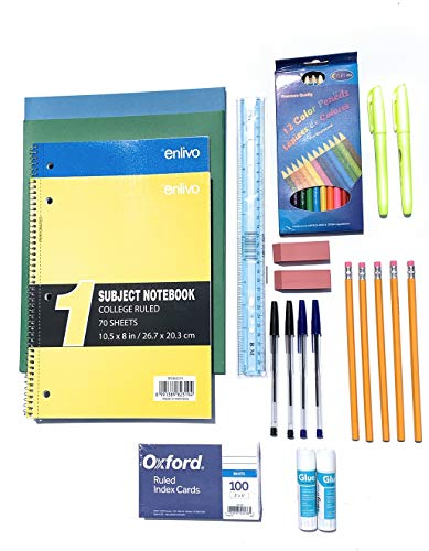 Back to School Essential Supply Kit for Middle School, High School or College