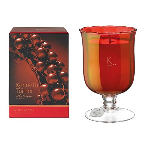- Winter Berries Scented Candle in Stem Glass Vase by Kenneth Turner 580g / 95 Hours - NEW for 2015! by Kenneth Turner