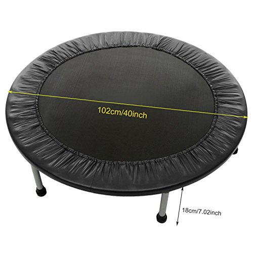 Moroly Folding Trampoline Mini Rebounder Trampoline with Safety Pad for Exercise Workout Cardio Training,Max Load 220lbs