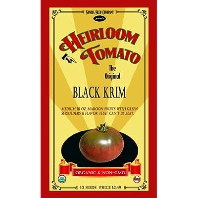 Sandia Seed Co. Black Krim Heirloom Tomato - 10 Seeds - Organic and Non-GMO : Vegetable Plants : Garden & Outdoor
