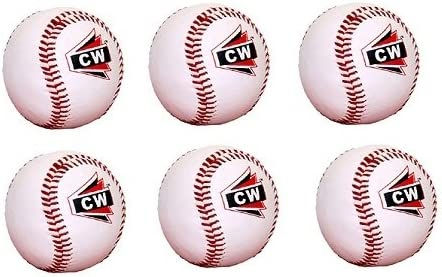 M & M MARS Pack de 6 (Six) CW White Sports Advance Adulto/Jóvenes Béisbol para jugar liga, práctica, competiciones: Amazon.es: Deportes y aire libre